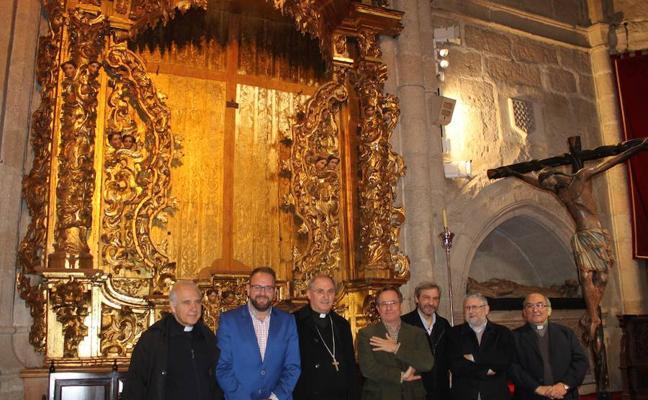 El retablo del Cristo de la O de la Concatedral de Mérida estrena restauración