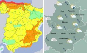 La borrasca Hugo deja rachas de viento de más de 90 kilómetros por hora en Extremadura