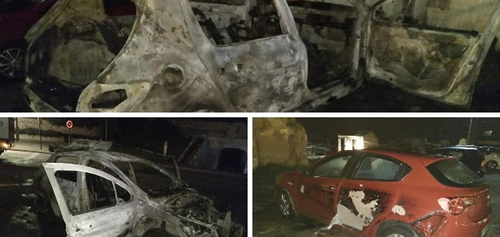 El incendio intencionado de un coche afecta a otros dos en El Campillo de Badajoz