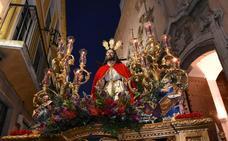Noche espléndida para recibir a la Oración en el Huerto en Badajoz