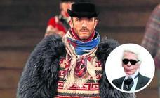 El guardaespaldas de Lagerfeld se arma de tijeras