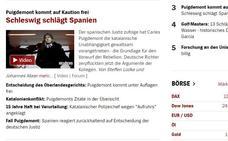 La prensa alemana destaca el revés a España en el caso Puigdemont