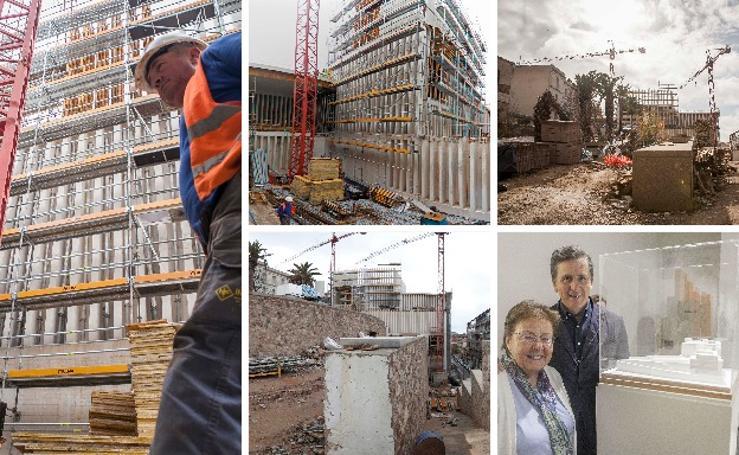 Obras del nuevo edificio de la fundación Helga de Alvear