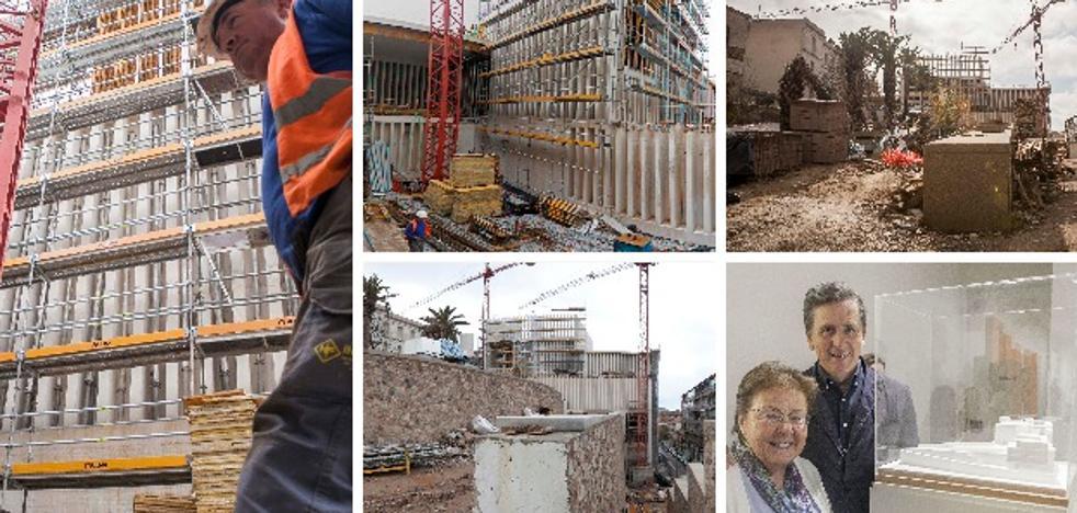 El nuevo edificio del Helga de Alvear luce ya su singular fachada de 500 columnas