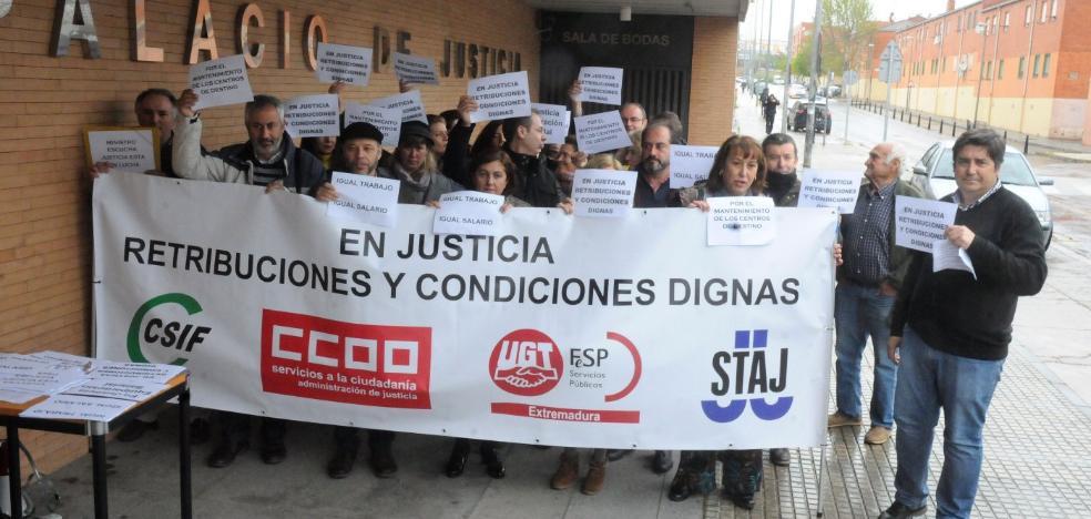 Los funcionarios de justicia reclaman mejoras salariales y más medios