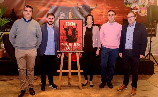 El cartel 'De Coria al cielo' anunciará las Fiestas de San Juan