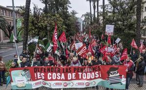 Manifestación en Badajoz para reclamar pensiones dignas