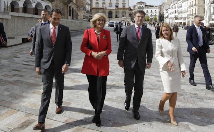 Visita del ministro de Justicia a Cáceres