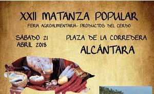 Alcántara acogerá el sábado su matanza popular y un concierto de Boccherini