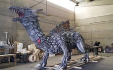 Así es el dragón de San Jorge que protagonizará el desfile de Cáceres este domingo