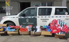 Incautan en Arroyo de la Luz 471 equipaciones de fútbol falsificadas valoradas en más de 42.000 euros