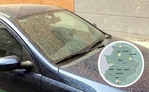 La entrada de polvo en suspensión del norte de África dejará lluvia de barro en Extremadura