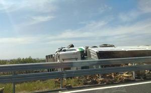Ya se circula con normalidad en la A-66 tras volcar un camión a la altura de Valdesalor