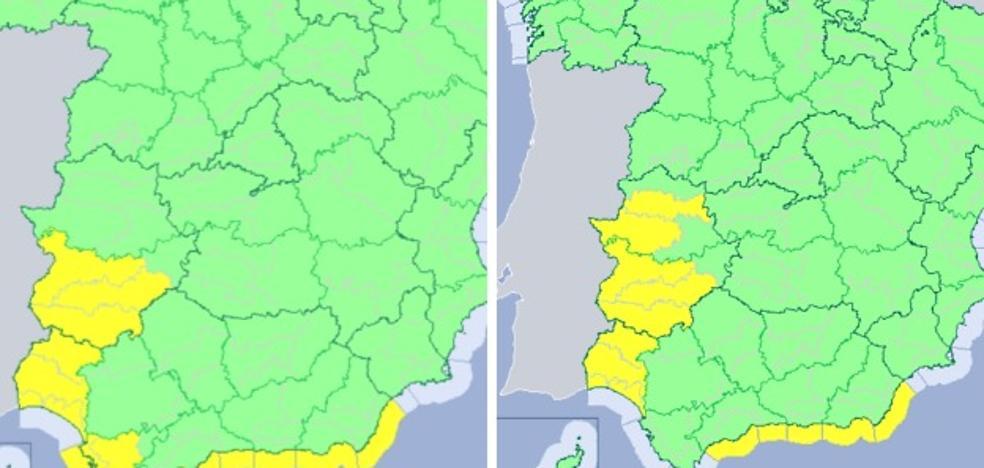 Extremadura está en riesgo por lluvias y tormentas este fin de semana