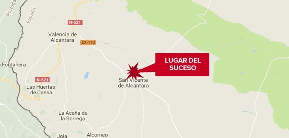 Herido grave un hombre de 89 años tras ser atropellado en San Vicente de Alcántara