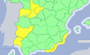 Extremadura vuelve a estar en alerta por tormentas