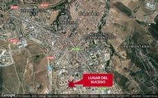 Herido un hombre tras chocar un coche y una moto en Cáceres