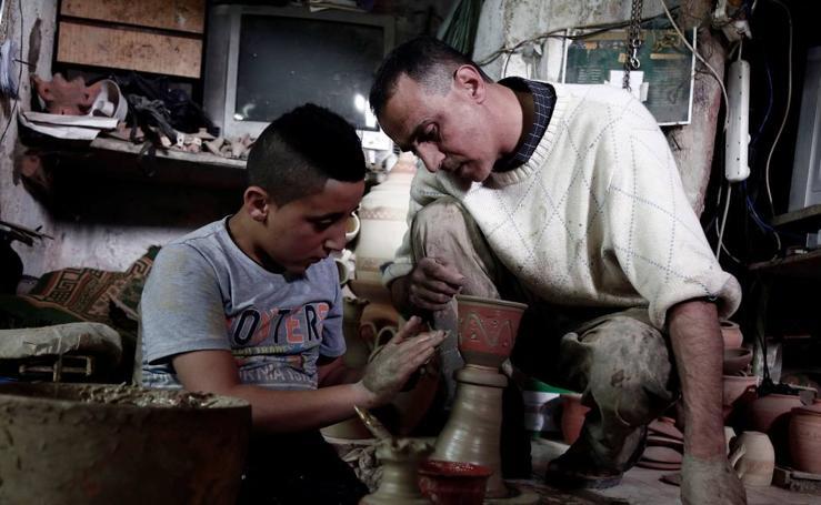 Taller de alfarería palestino