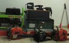 La Guardia Civil de Béjar investiga a dos hombres por el robo de maquinaria en Cáceres