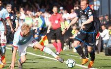 El Deportivo liquida las opciones europeas del Celta en el último minuto