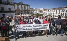 Pensionistas extremeños piden en más de una decena de actos reivindicativos un sistema digno de pensiones