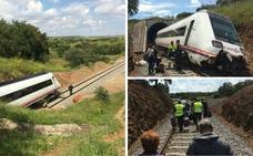 Restablecen la circulación entre Zafra y Huelva tras el descarrilamiento de ayer