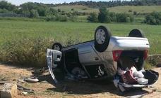 Imágenes del accidente ocurrido en la N-432 a la altura de Badajoz