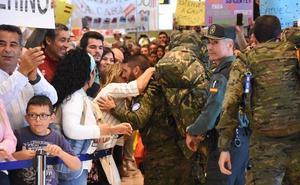 Llegan 129 militares procedentes de Líbano al Aeropuerto de Badajoz