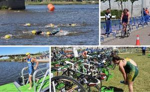 El triatlón, un espectáculo en el río de Badajoz