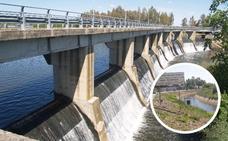 La presa de Montijo queda libre de camalote para la campaña de riego
