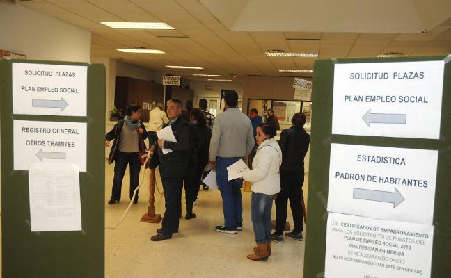 Los 63 contratados en Mérida del Plan Social trabajarán seis meses el 70% de la jornada laboral