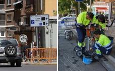 La plaza de los Alféreces de Badajoz acoge el primer parking con sensores en la calle