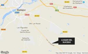 Herida leve en una salida de vía en la carretera de Sevilla
