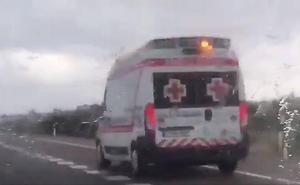 Una granizada provoca una colisión múltiple en la A-66, cerca de Torremejía