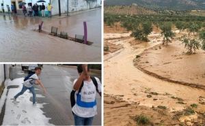 Las tormentas reparten granizo y agua por buena parte de la región