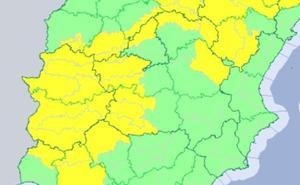 Toda Extremadura está en alerta por tormentas y granizo
