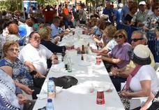 Gazpacho y panceta para los mayores en el Parque de la Legión