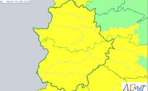 Alerta amarilla por tormentas en toda Extremadura