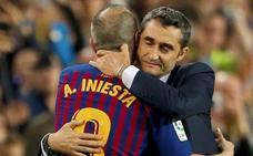 Valverde: «Andrés nos ha hecho vivir el fútbol en toda su dimensión»
