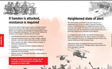 Suecia distribuye en los hogares un folleto para prepararse ante una guerra