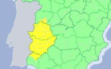 El jueves vuelven los avisos por lluvias y tormentas a Extremadura
