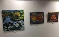 Exposición del IX certamen de pintura 'Francisco Pedraja'