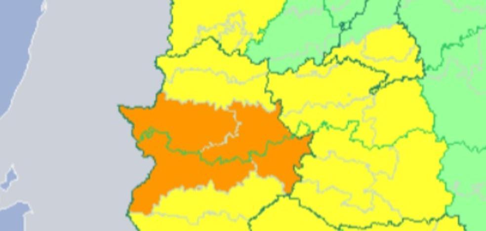 Extremadura, en alerta naranja por tormentas y granizo