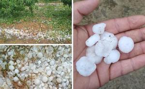 El granizo vuelve castigar a Extremadura