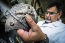 Reproducen el casco de un gladiador de Pompeya