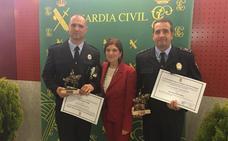 Dos policías locales de Arroyo, reconocidos por la Guardia Civil