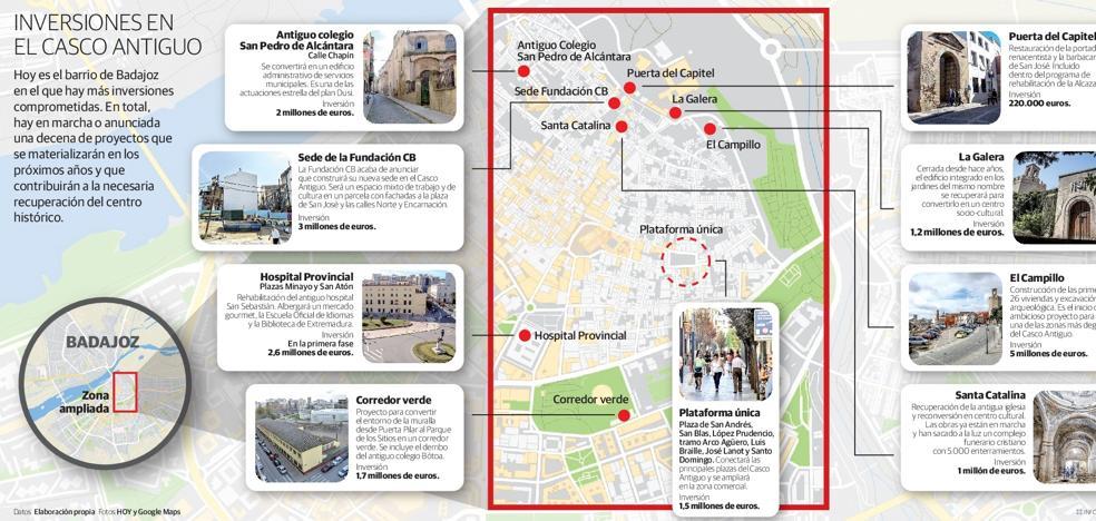El Casco Antiguo de Badajoz que viene