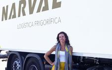 Marta Sánchez, al mando de 55 rutas de camiones
