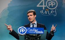 Pablo Casado ocupará la presidencia del comité electoral del PP de Madrid