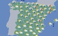 Miércoles con temperaturas primaverales y lluvias ocasionales